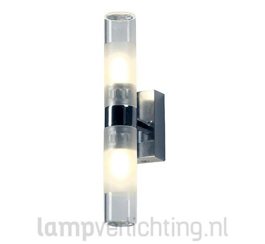 Badkamerverlichting Chroom Glas