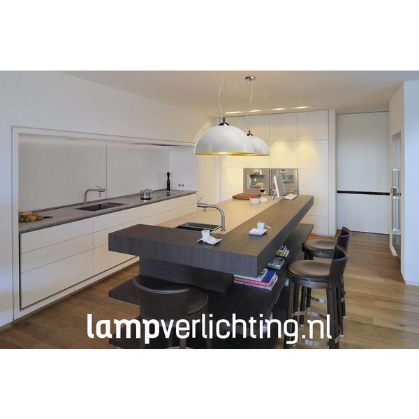 Hanglamp Dome XL wit-goud