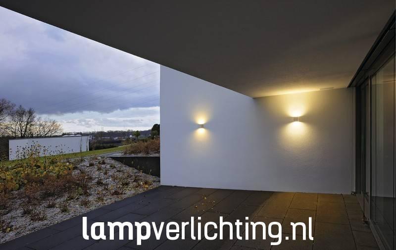 Wandlamp Buiten Kubus Updown - Antraciet, roest of wit ...