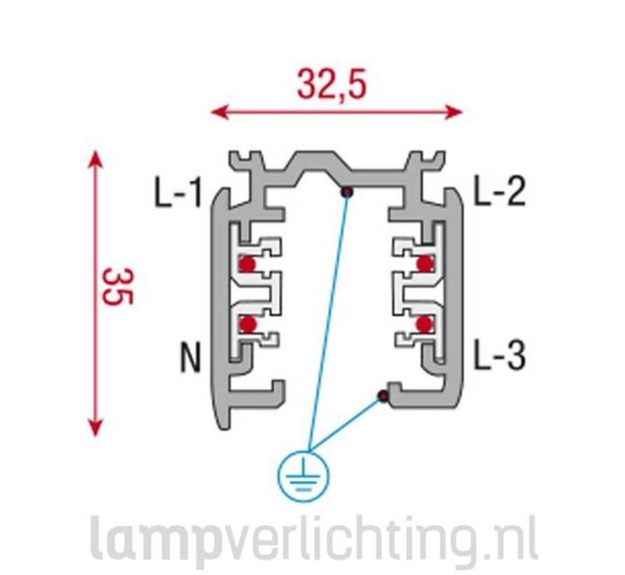 3-Fase Rail 2 meter