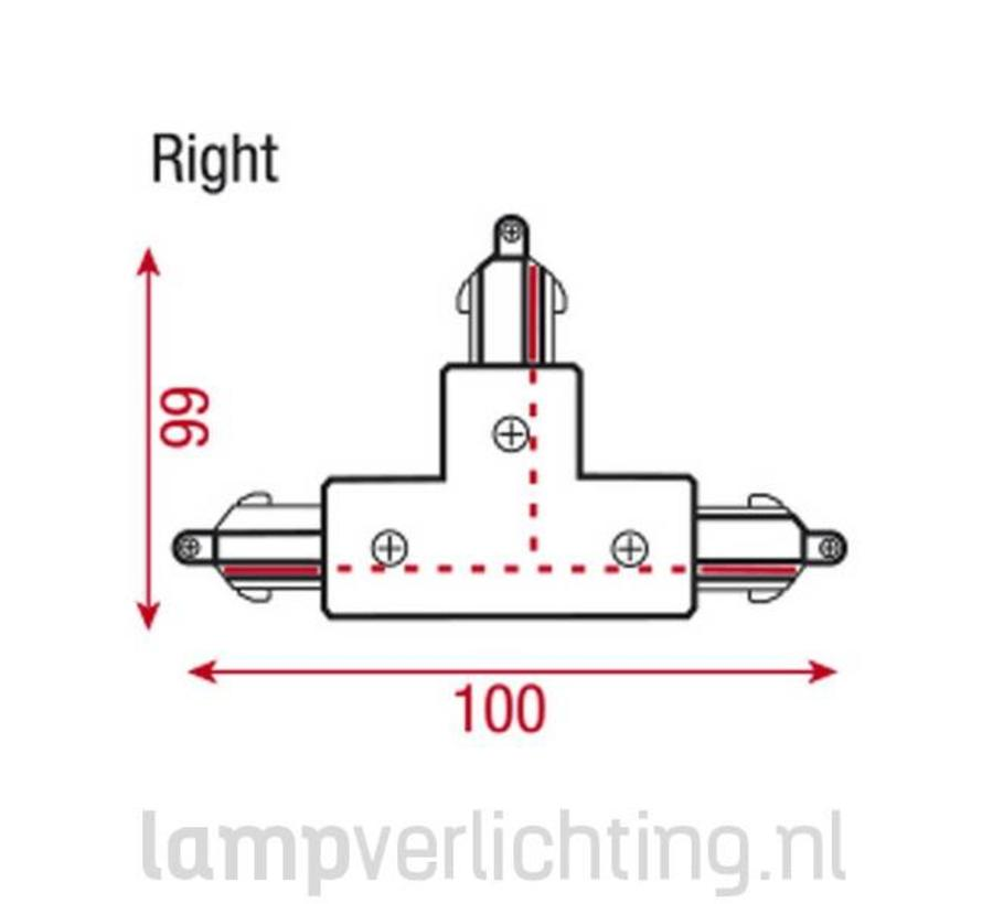 3-Fase Rail T-Verbinder Rechts