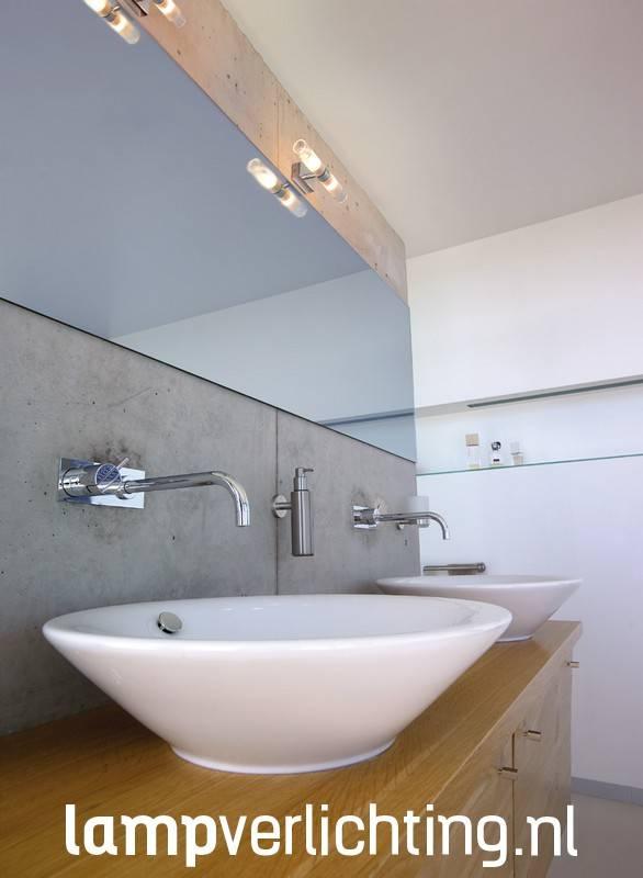 Badkamerverlichting chroom glas for Badkamerverlichting led