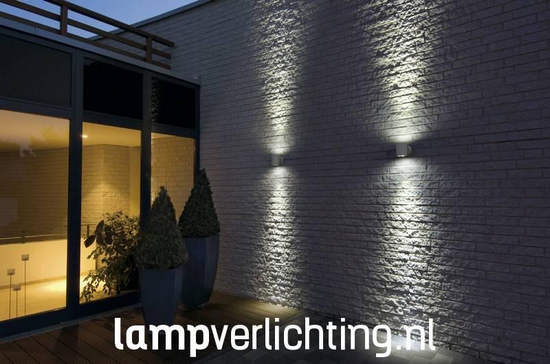 wand buitenlamp updown dubbele lichtbundel antraciet of steengrijs. Black Bedroom Furniture Sets. Home Design Ideas