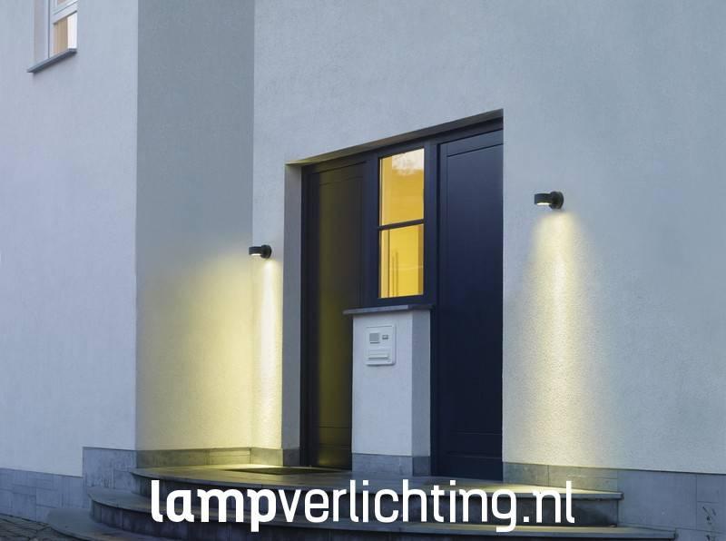 wand buitenlamp downlight antraciet of grijs. Black Bedroom Furniture Sets. Home Design Ideas