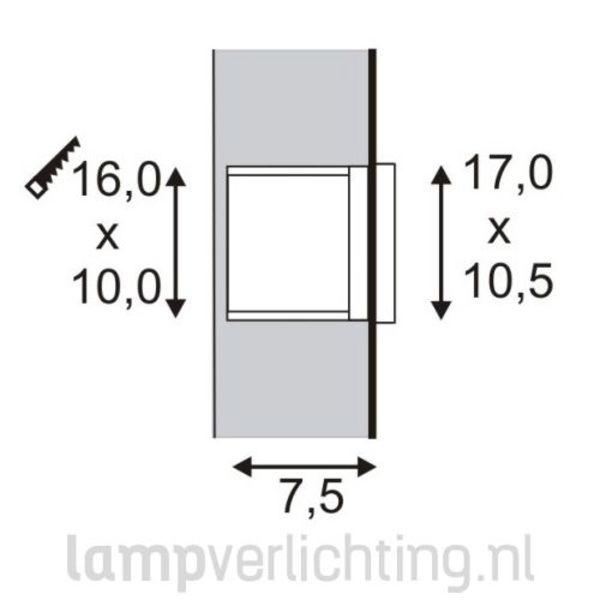 Muur inbouwspot Ibit B LED