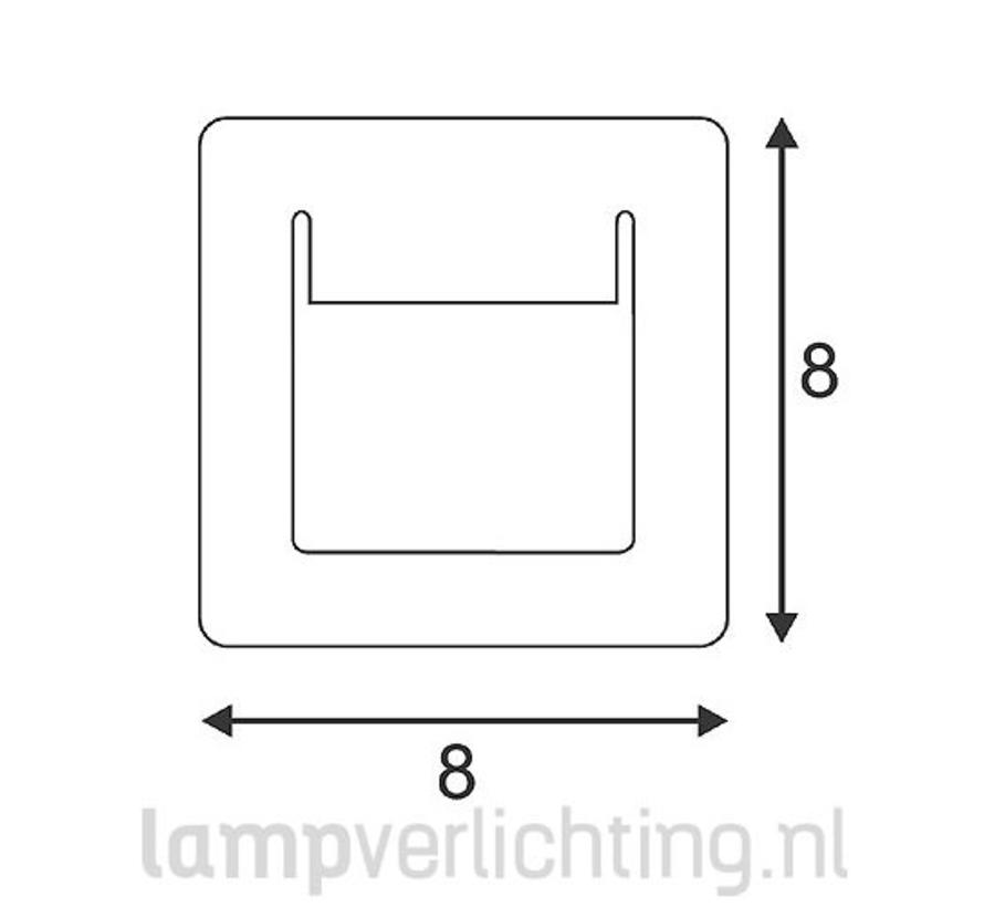 Wand Inbouwlamp LED 8x8 cm