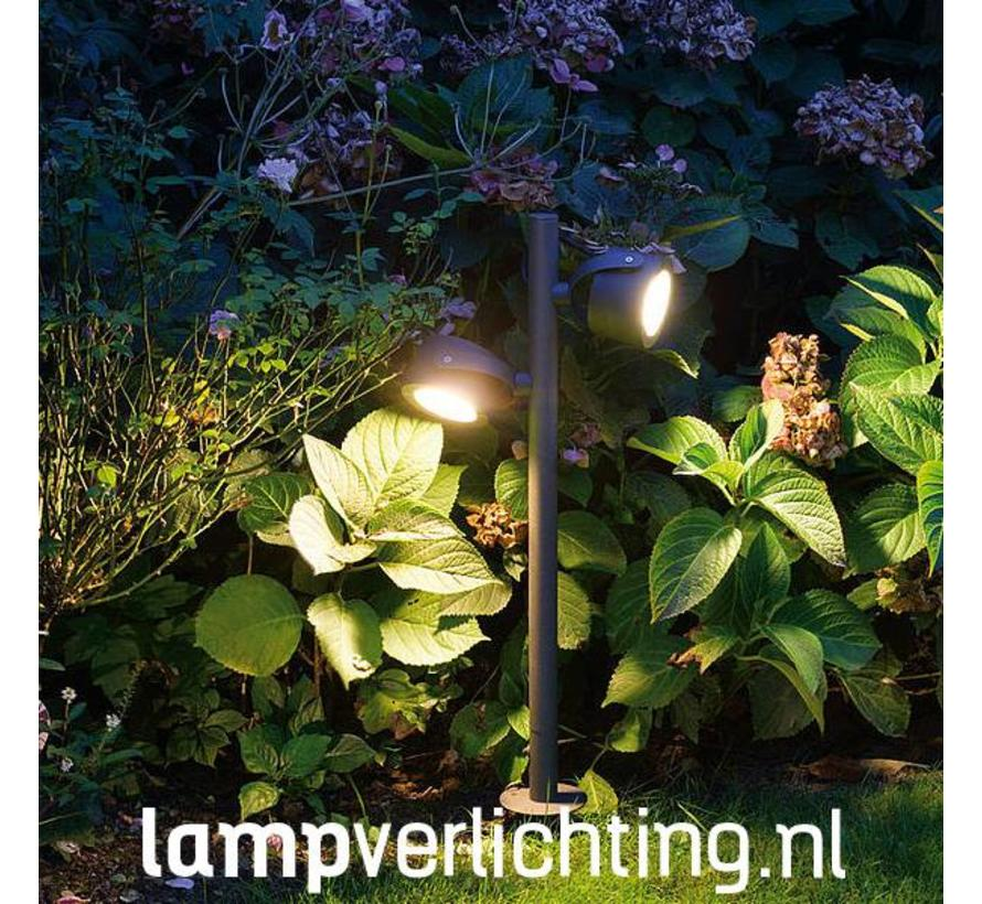Dubbele Tuinspot Spies Antraciet 230V