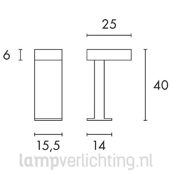 Rusty Pathlight Buitenlamp Roest Cortenstaal