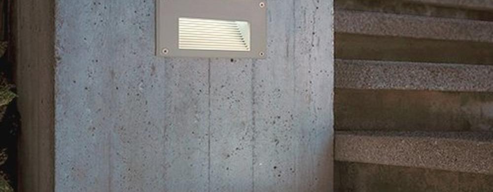 Wand inbouwspots buiten