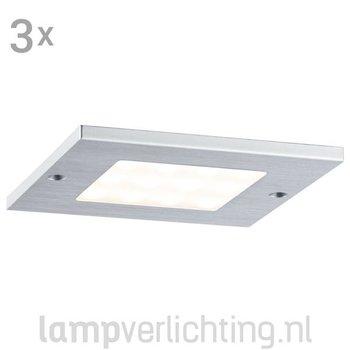 Platte LED Opbouwspots Vierkant 3x4W