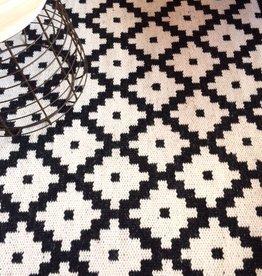 ZIGGY vloerkleed  zwart/ wit