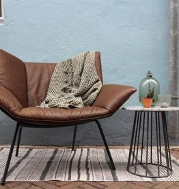 Label van den Berg GUSTAV  fauteuil   Bald leder brown