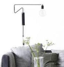 House Doctor SWING  wandlamp L   zwart / messing