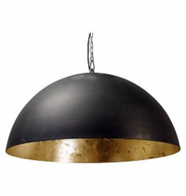 LARINO   hanglamp  Gunmetal - bladgoud/ bladzilver/ wit