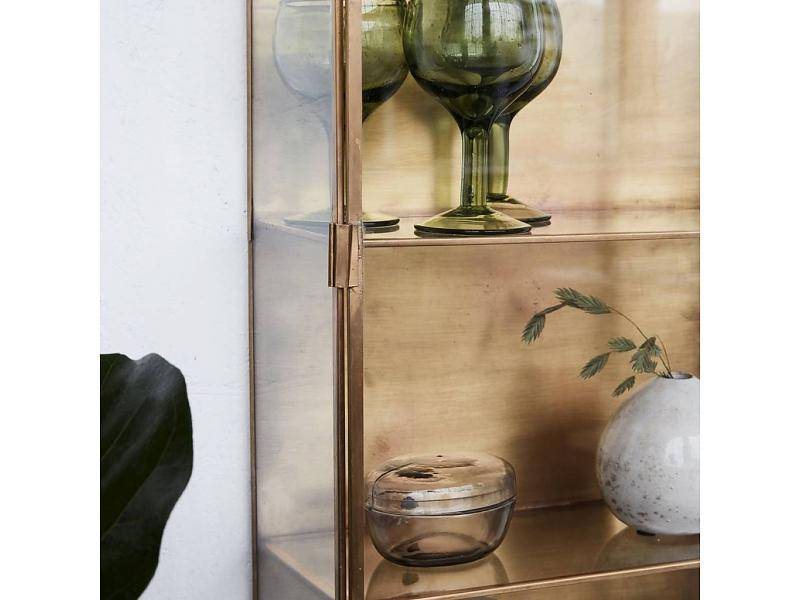 CABINET GLASS  BRASS house doctor
