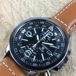 Seiko Seiko Chronograph Alarm Solar SSC081P1 horloge