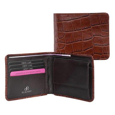 HJ de Rooy Heren portemonnee croco HJ de Rooy 24581