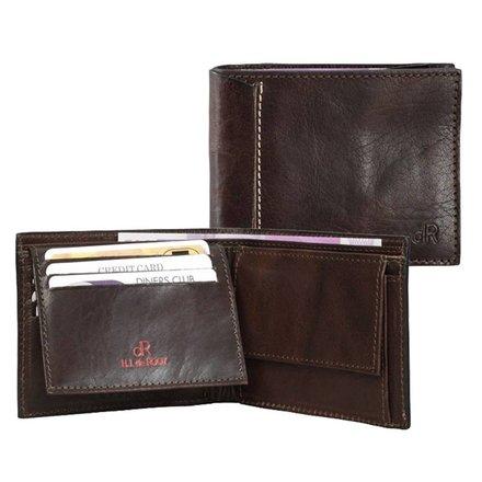 HJ de Rooy Heren portemonnee donkerbruin HJ de Rooy 78524 M