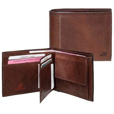 HJ de Rooy Heren portemonnee donkerbruin HJ de Rooy 78559 M