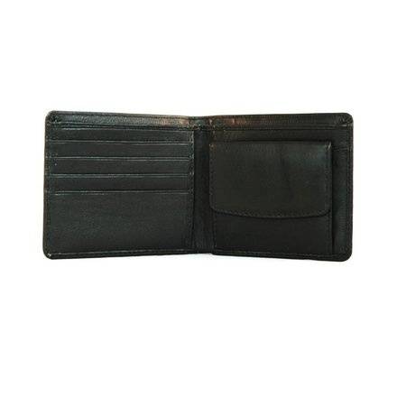 Leather Design Heren portemonnee zwart Leather Design LA3