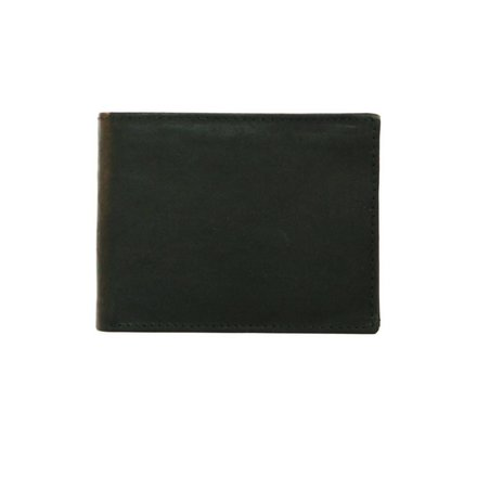Leather Design Heren portemonnee zwart Leather Design MT5009