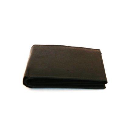 Leather Design Heren portemonnee zwart Leather Design MT390