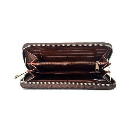JBW Dames portemonnee donkerbruin 7009