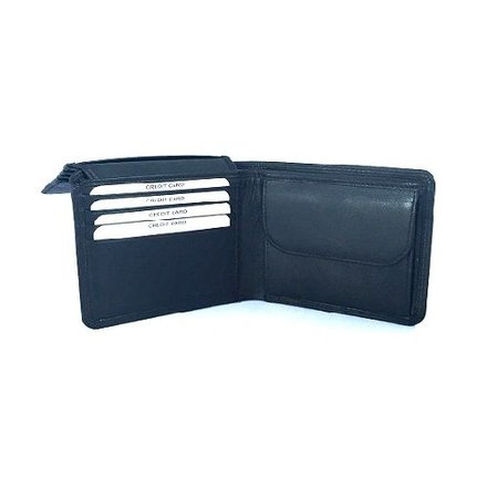 Burkely portemonnees Heren portemonnee zwart Burkely 5600