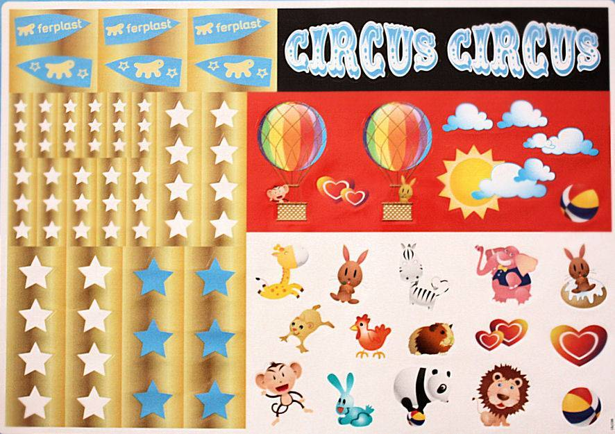 Ferplast CIRCUS FUN STICKER SHEET