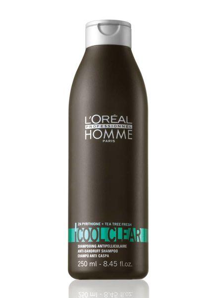L'Oréal Loreal Homme Cool Clear Shampoo - Anti Schuppen Shampoo 250ml