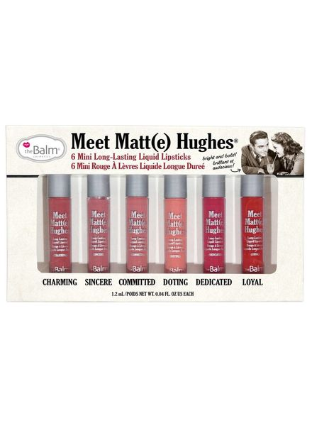 TheBalm theBalm Meet Matte Hughes Set 6 Mini Liquid Lipsticks