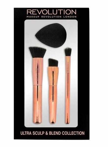 Makeup Revolution Makeup Revolution Ultra metallisches Pinselset Sculpt & Blend C301