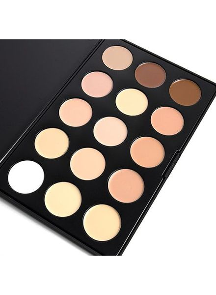 OPV beauty OPV Beauty 15 Color Concealer Palette Cream Base