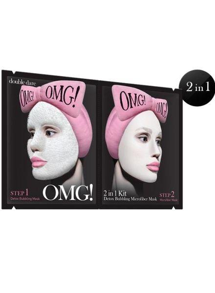 double dare OMG! 2 in 1 Kit Detox Bubbling Microfiber Mask