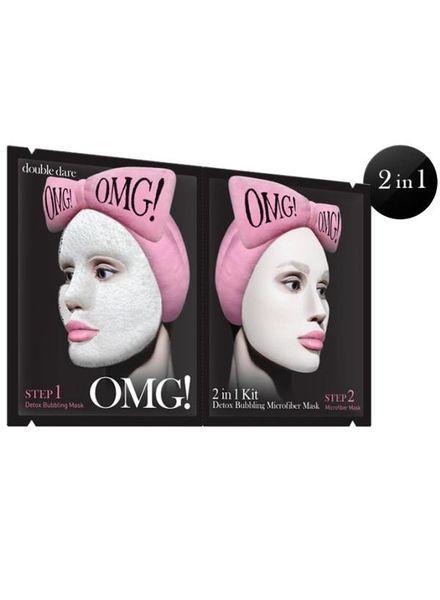 double dare OMG! 2 in 1 Kit Detox Bubbling Microfiber Maske 5er Packung