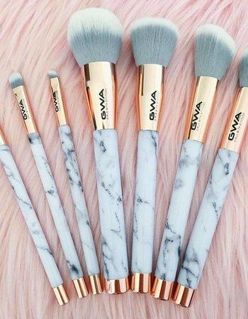 GWA Cosmetics GWA The Marble Collection   7pcs Makeup Brush Set