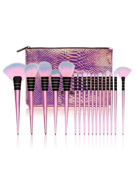 GWA Cosmetics GWA Flamingal Collection | 17pcs Makeup Brush Set