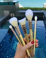 GWA Cosmetics GWA Luxe Metallics - 5pcs Makeup Brush Set