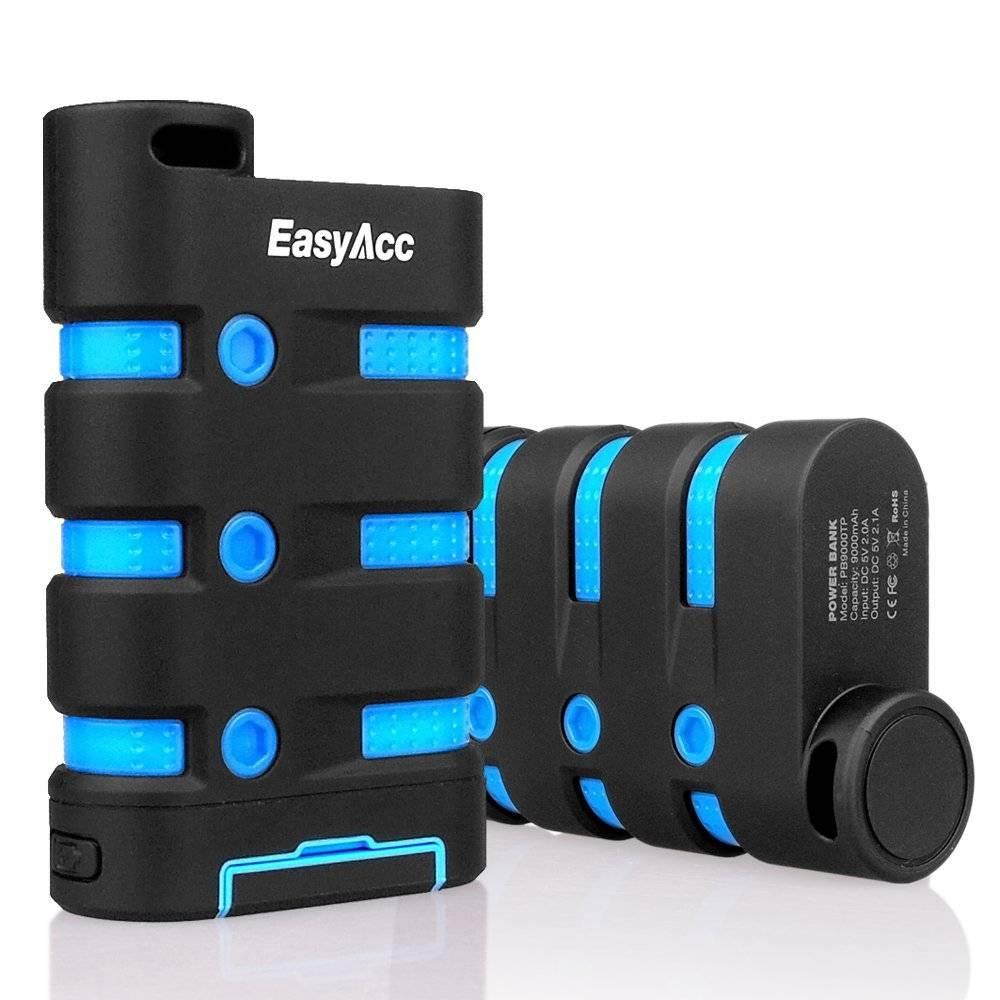 EasyAcc 9000 mAh powerbank exterior