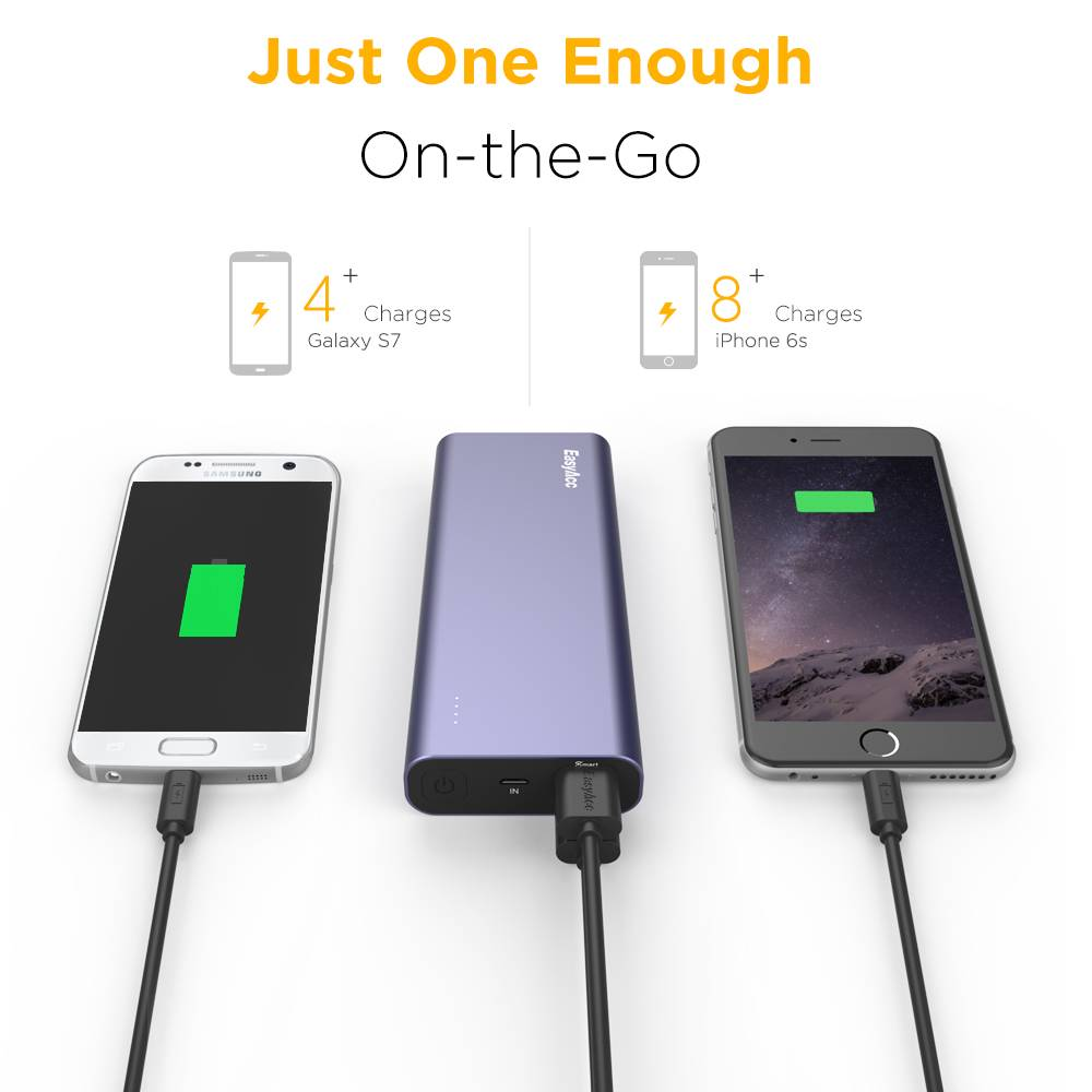 EasyAcc 20.000 mAh Quick Charge Power Bank