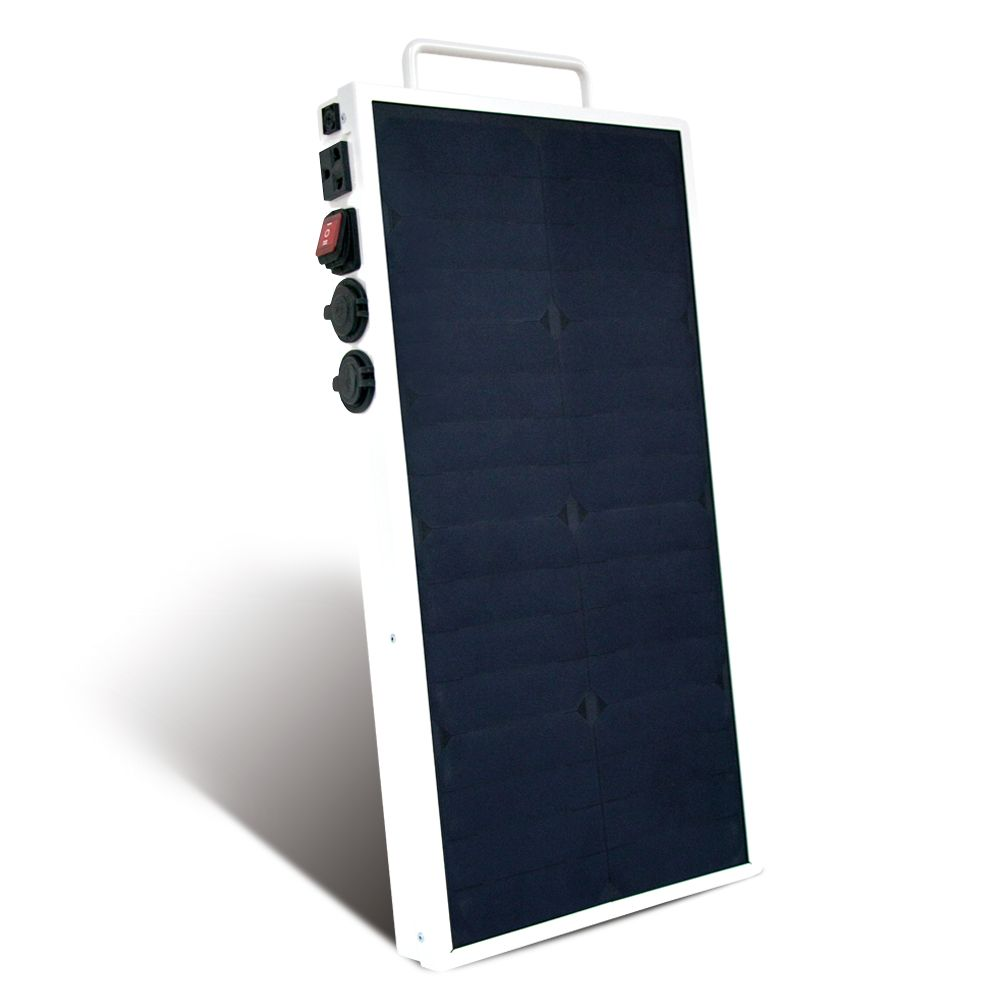 Mobisun Portable Solar Panel with Battery and Outlet 230V / 250W / 256Wh | Portable Solar Generator Mobisun Pro