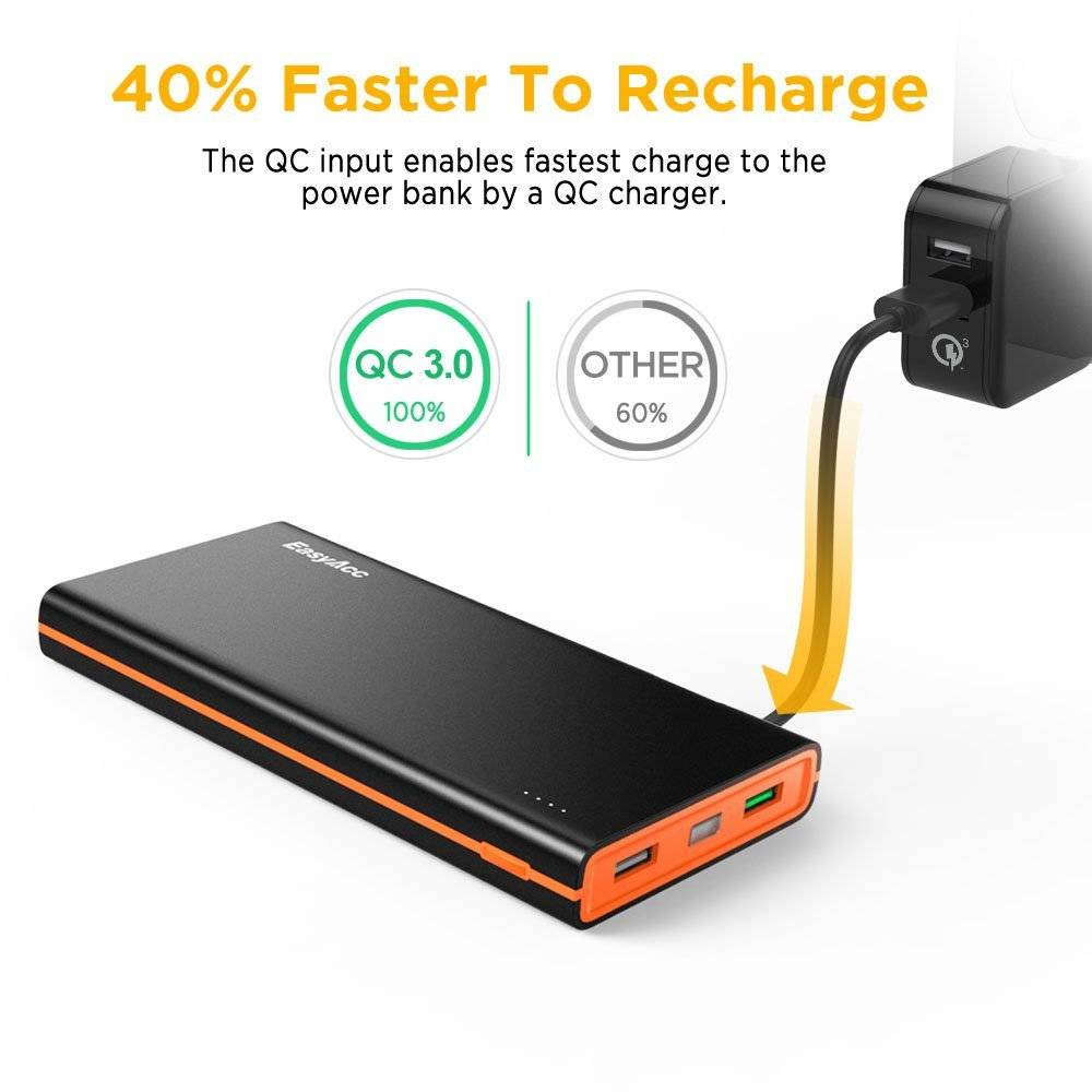 EasyAcc 15.000 mAh Quick Charge 3.0 Powerbank