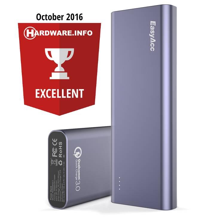 EasyAcc 20.000 mAh Quick Charge USB-C Power Bank