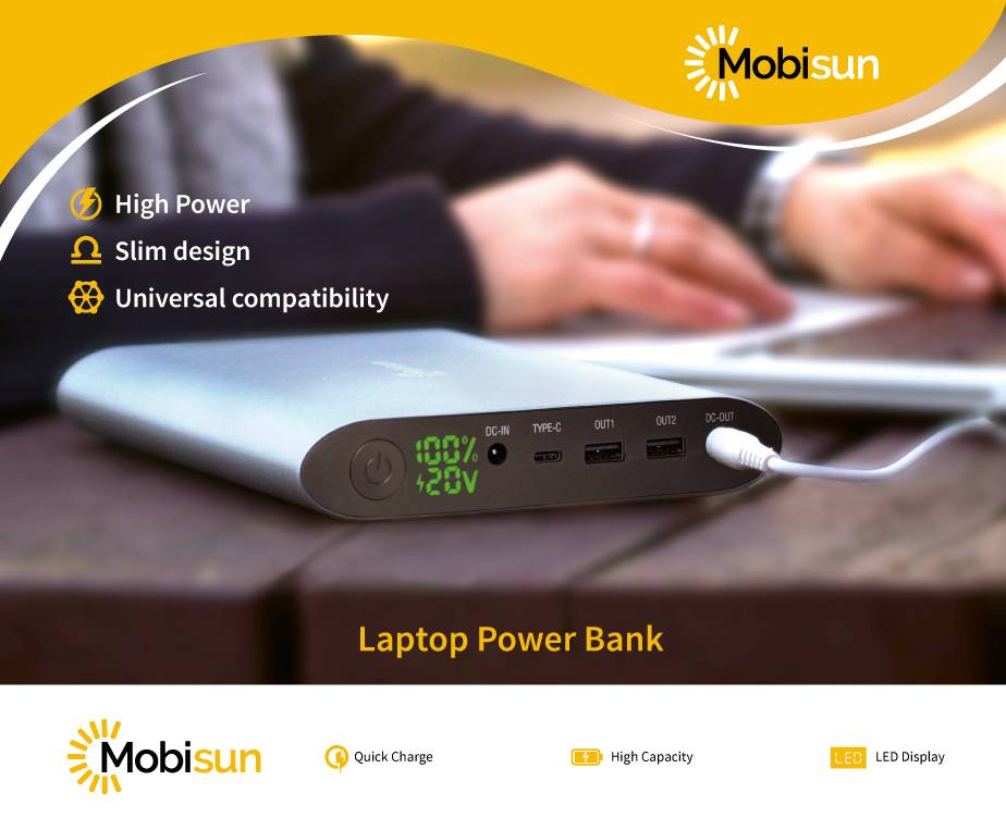 Mobisun 40.000 mAh Laptop Power Bank Mobisun