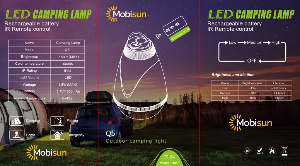 Mobisun Waterdichte Outdoor USB Lamp LED | Mobisun