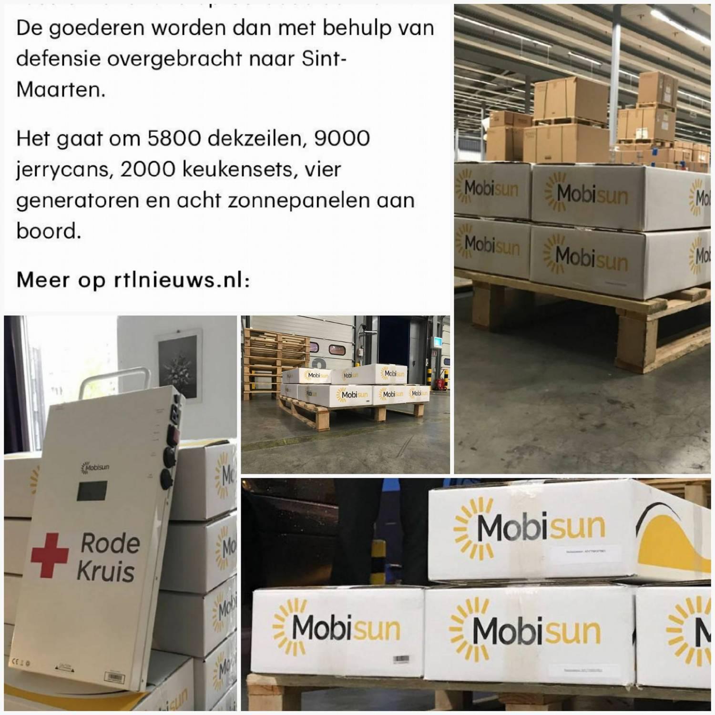 Mobisun levert aan Rode Kruis voor noodhulp Sint Maarten