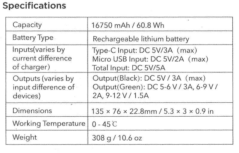 EasyAcc 20.000 mAh Schnellladung 3.0 powerbank | Mobisun