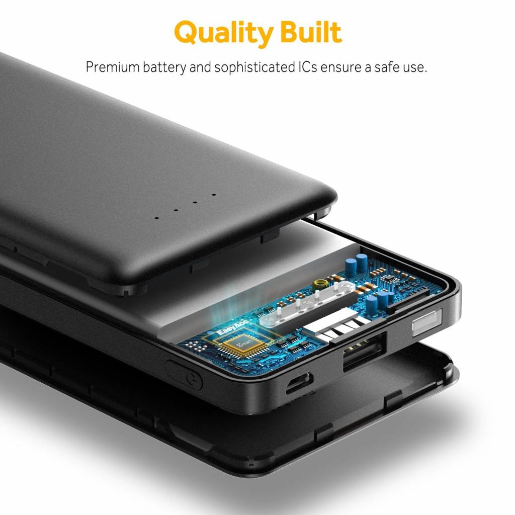 EasyAcc 10.000 mAh Quick Charge 3.0 powerbank | Mobisun