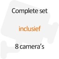 Inclusief 8 camera's