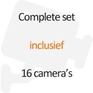 Inclusief 16 camera's